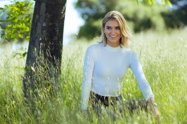 Woman in a summer field