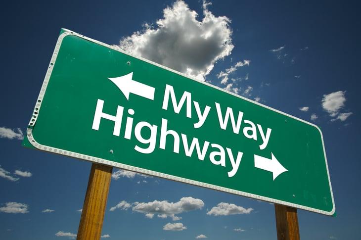 My way/ highway sign