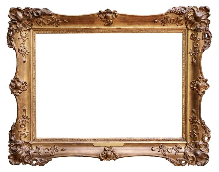 Fancy gold frame