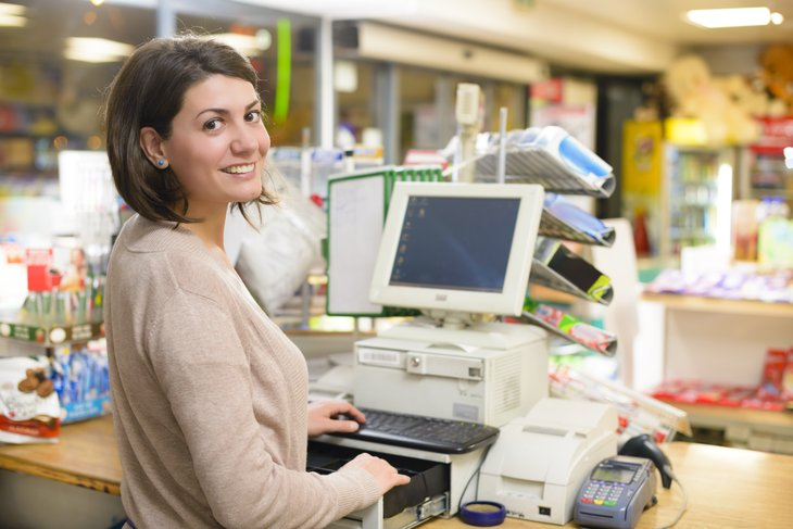 Cashier at a store