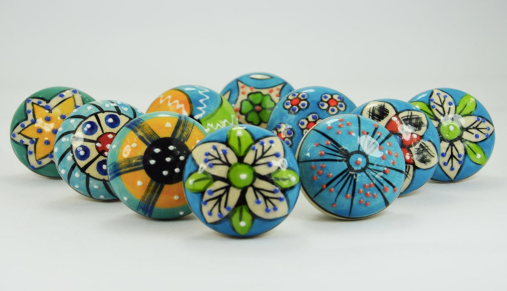 Ceramic cabinet pulls