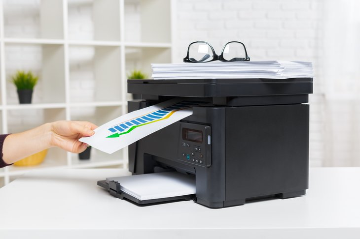 Using a printer to print out documents