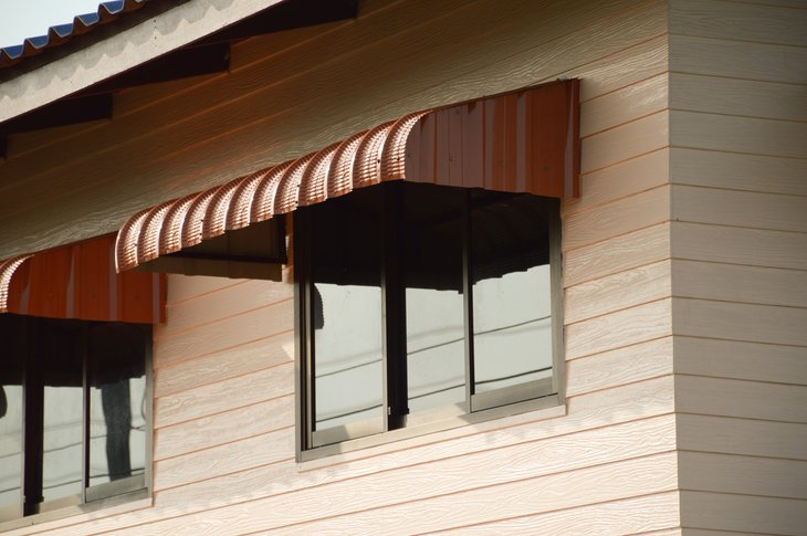 Awning and window