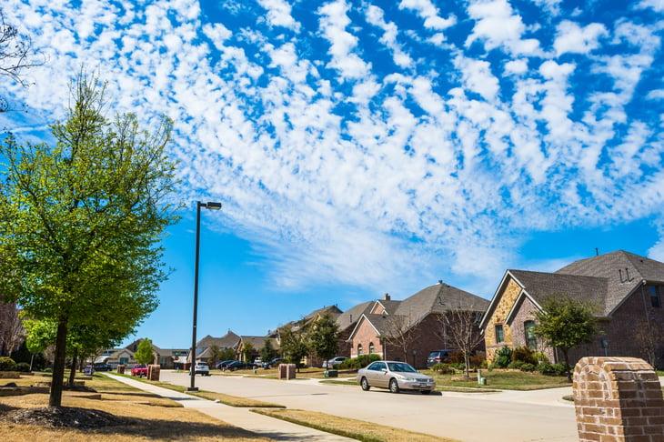Allen, Texas suburban homes