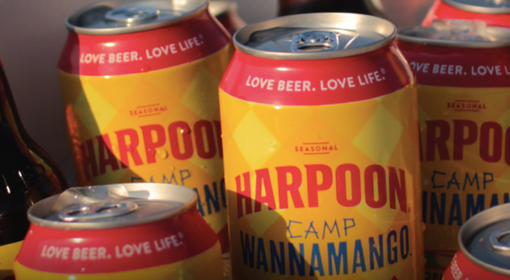 Harpoon Brewery beer cans