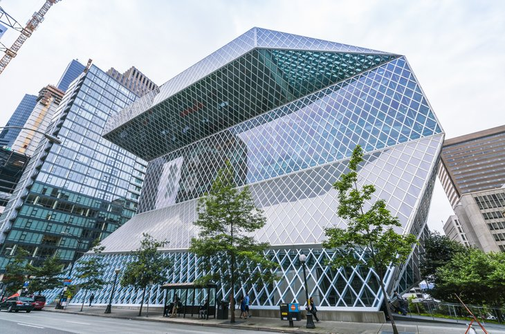 Exterior of Seattle Public Library