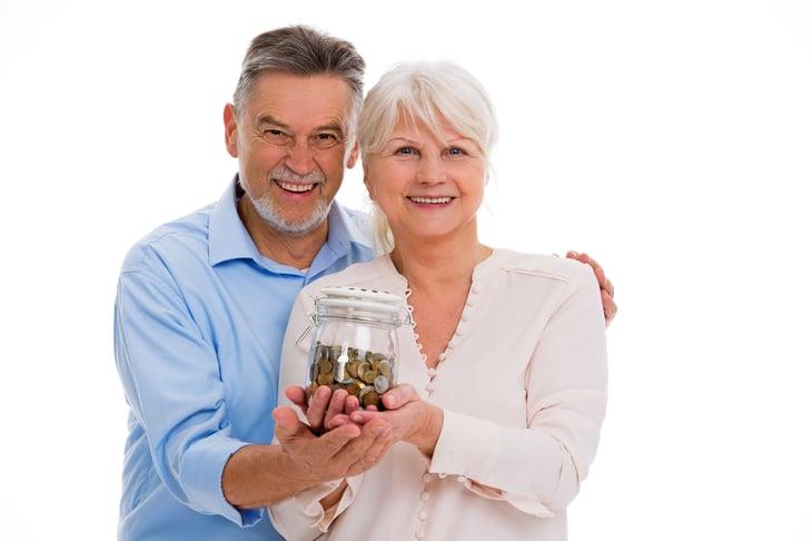 Couple w Money Jar