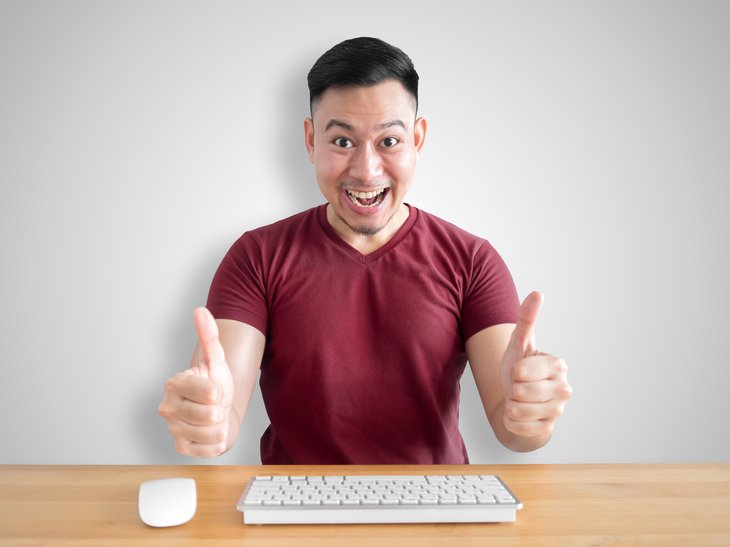Man w Computer