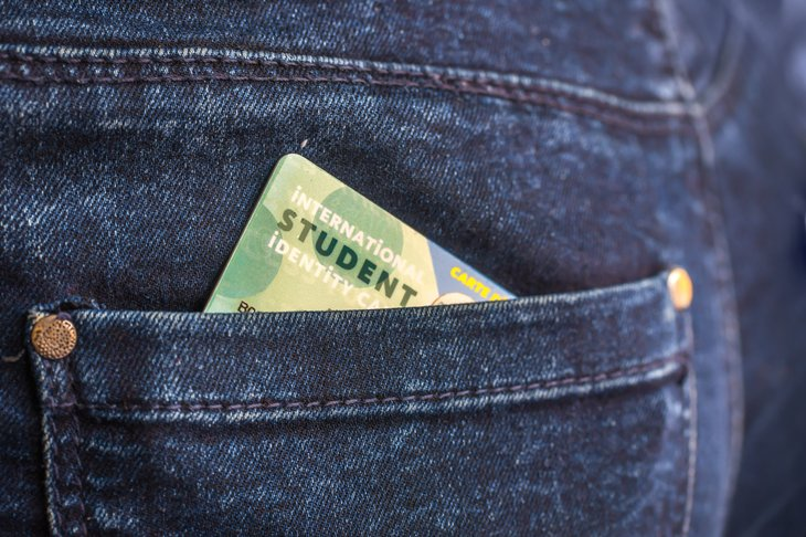 Student ID in jeans pocket