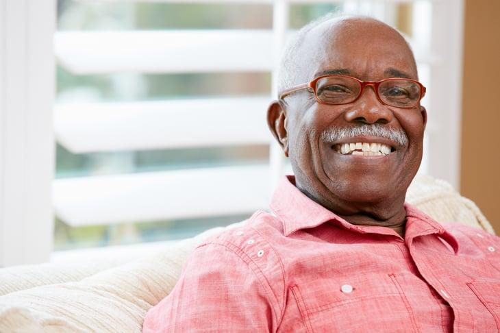 Happy Senior Man At Home