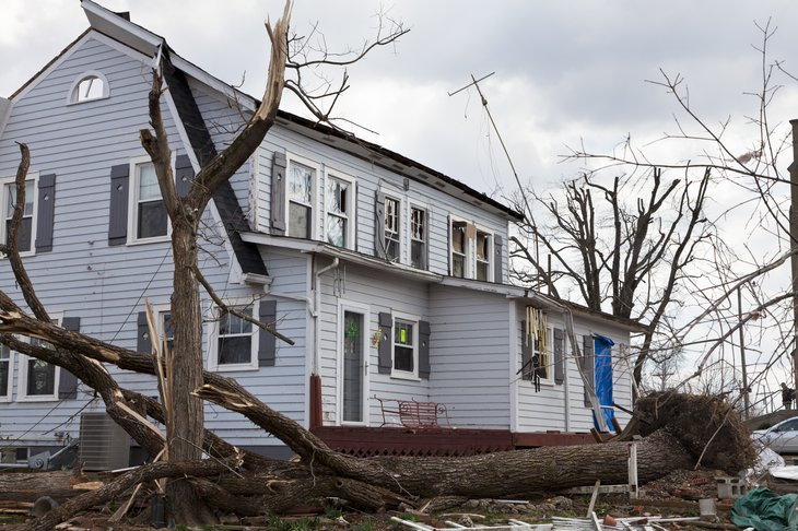 Indiana home damaged by tornado