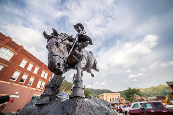 Statue of Wild Bill in Deadwood, South Dakota