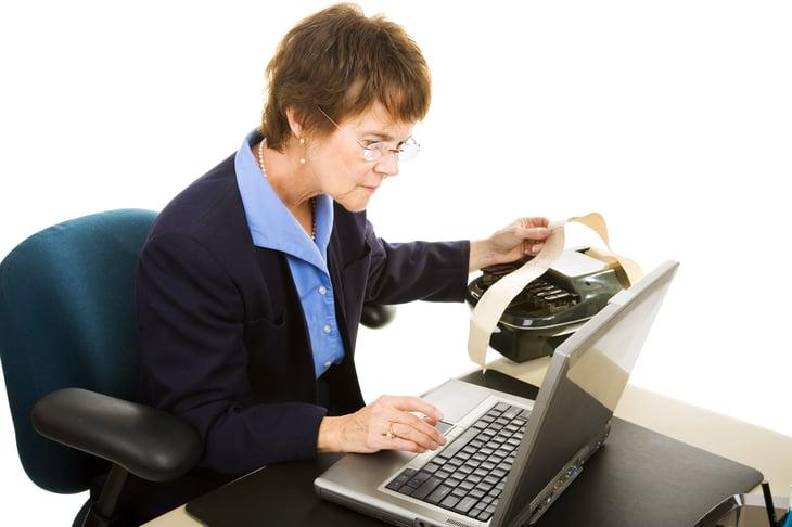 Woman doing a transcription