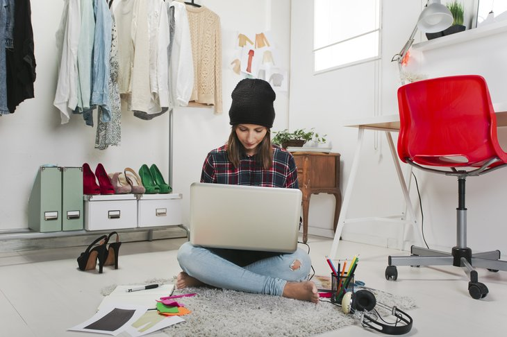 Blogger in bedroom