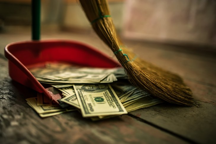 Broom and money