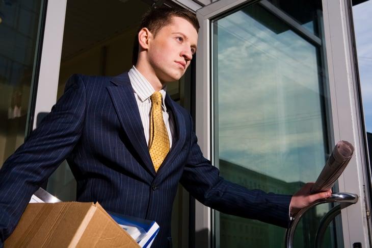 Man quitting job