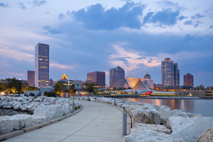 Milwaukee on Lake Michigan