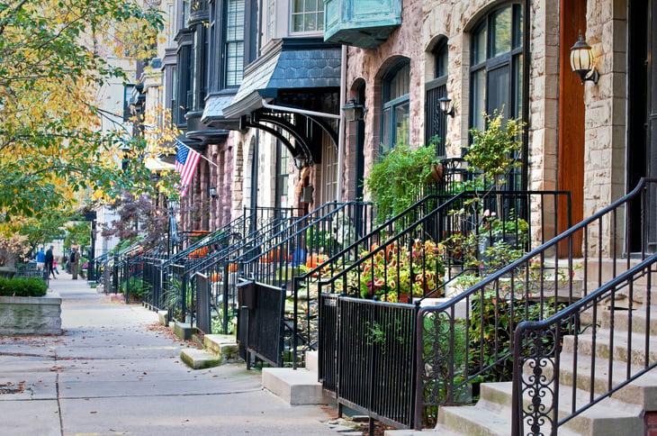 Chicago urban residential street