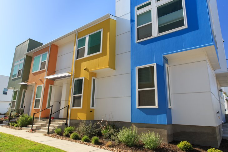 Row houses in Austin, Texas