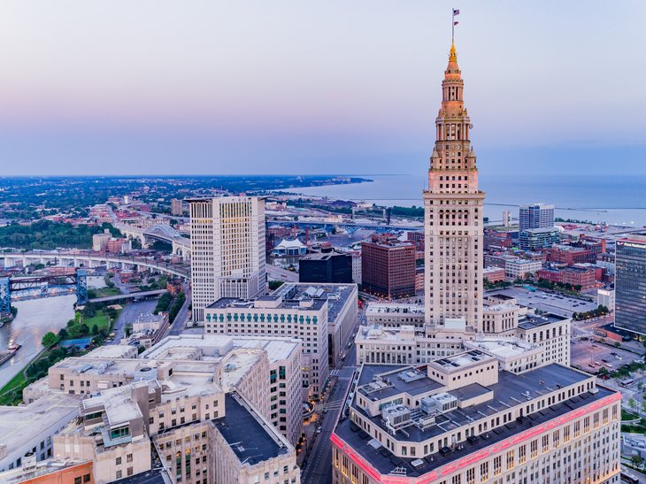 Cleveland, Ohio aerial view