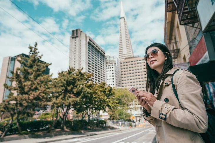 Woman in San Francisco