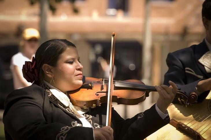 Mariachi player in Albuquerque, New Mexico