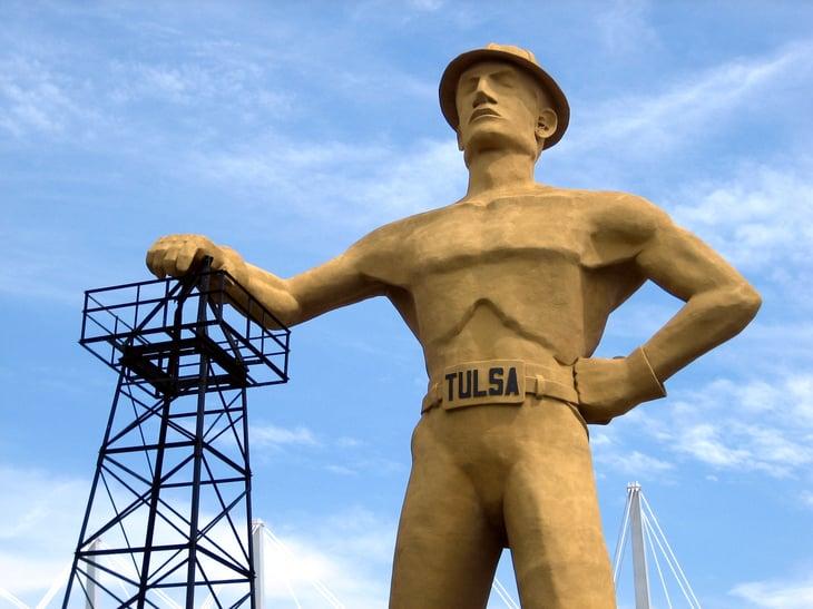 "Tulsa, Oklahoma ""Golden Driller"" statue"
