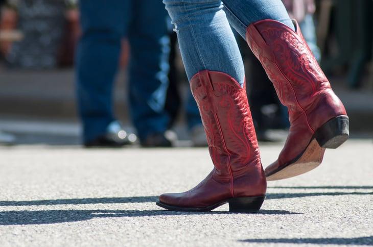 Cowboy boots, dancing