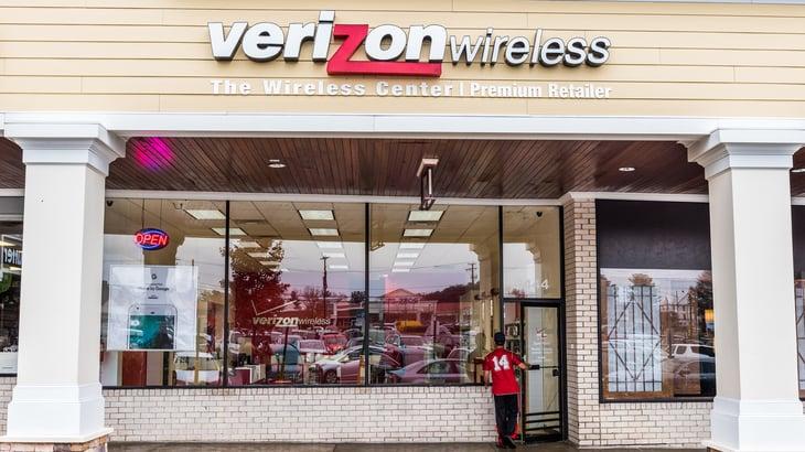 Verizon Wireless retail storefront