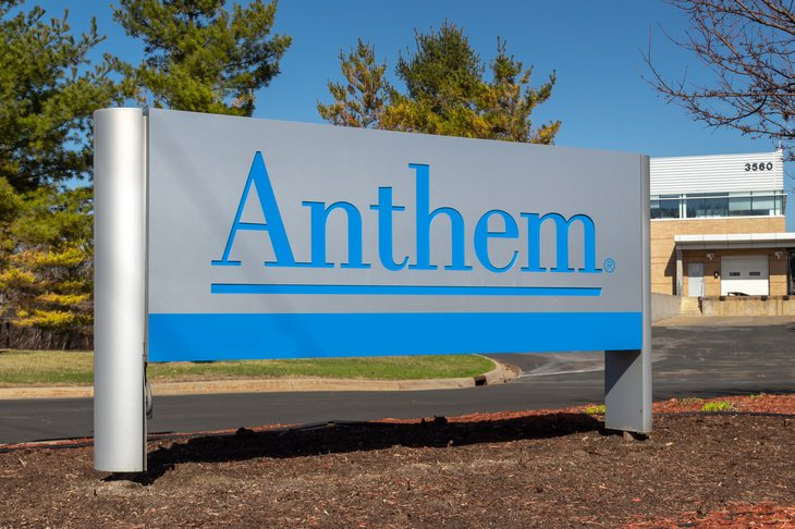 Anthem company sign
