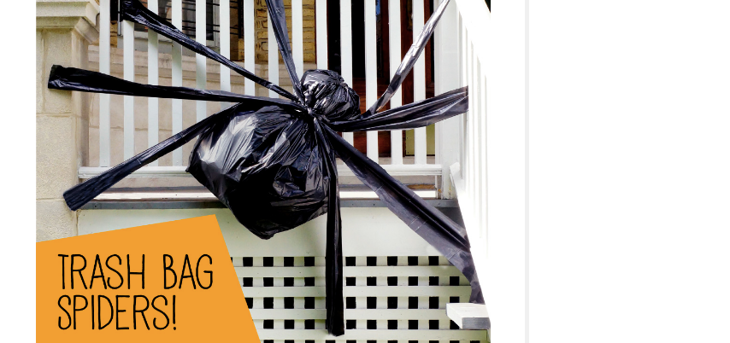 Trash bag spider decoration