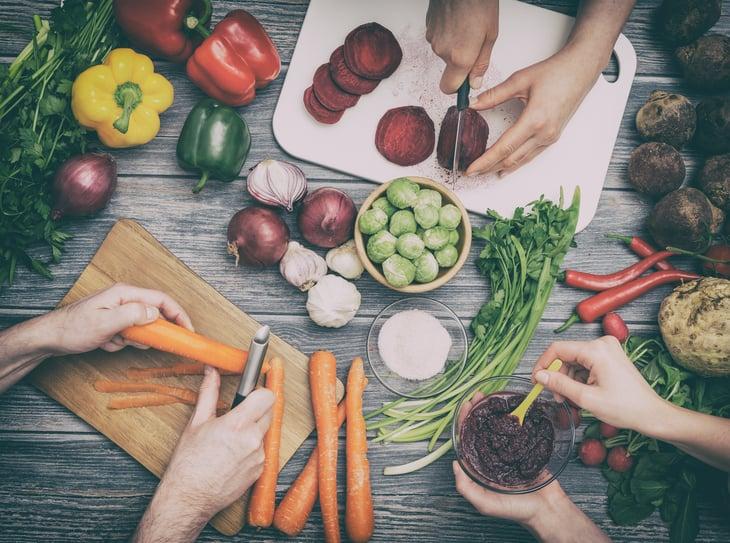 organic vegetables food prep foodie
