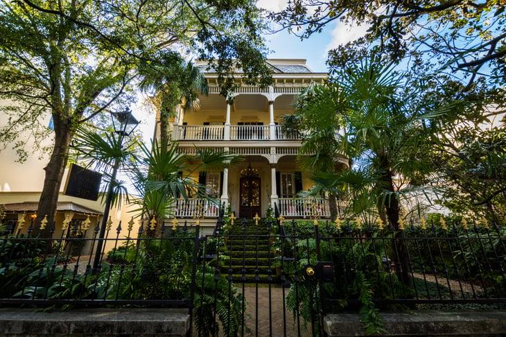 Traditional mansion in Savannah, Georgia