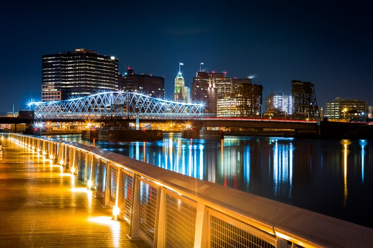 Newark, New Jersey at night