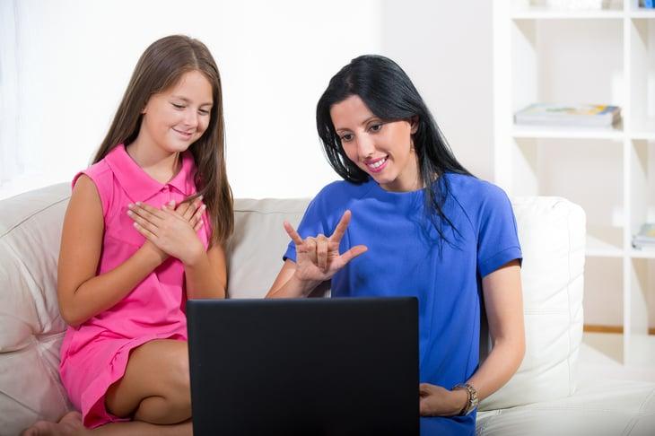 Sign language online