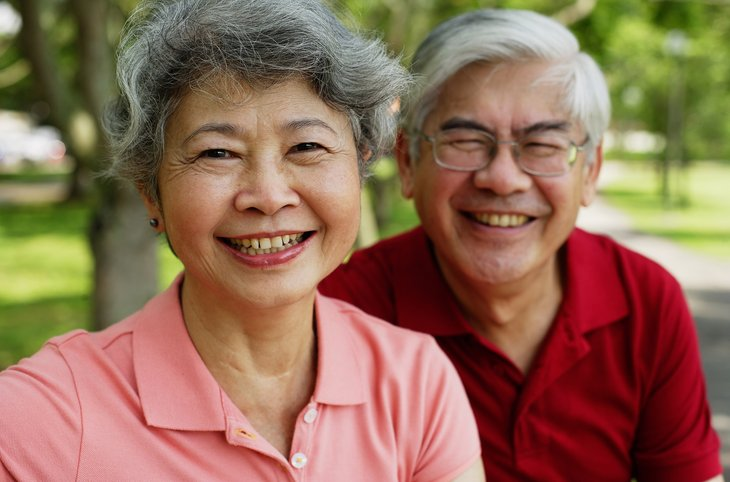 Older Asian American couple