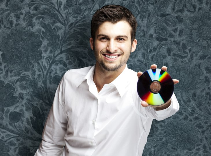 Man with CD