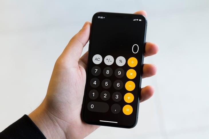smartphone calculator