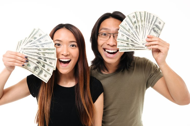 Couple with money
