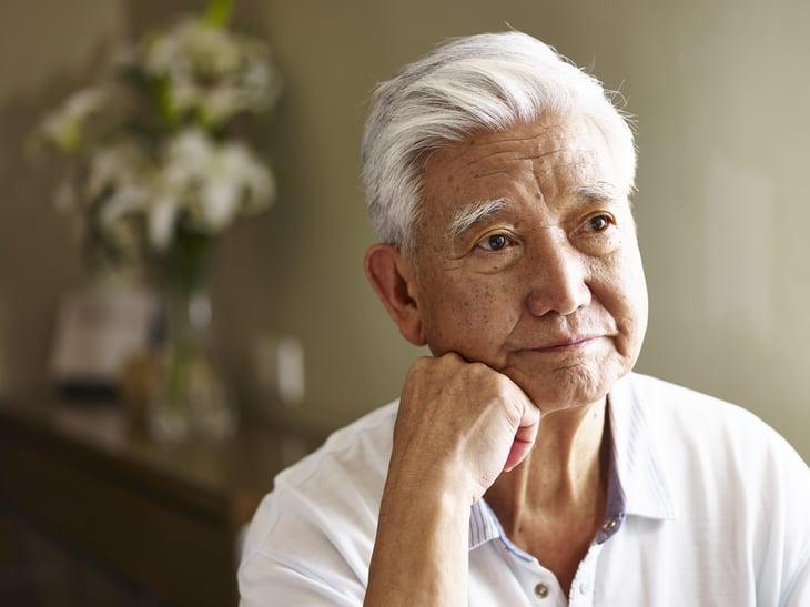 An Asian senior man
