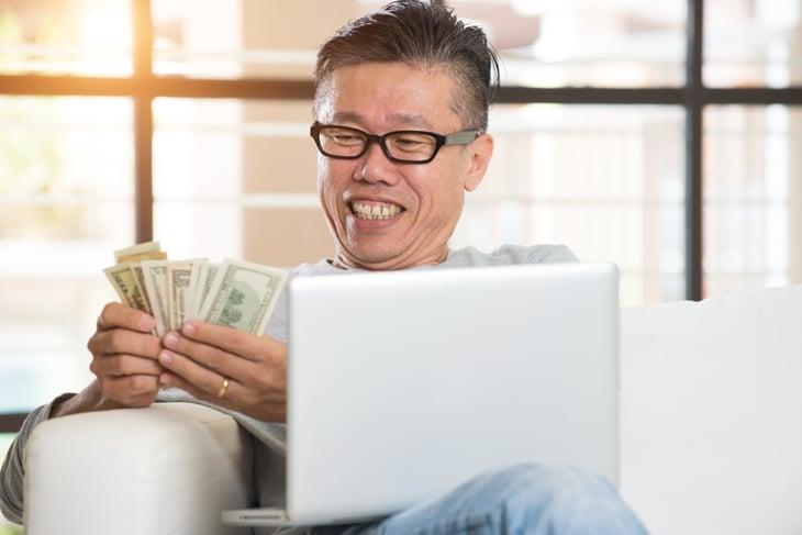 Retiree with money