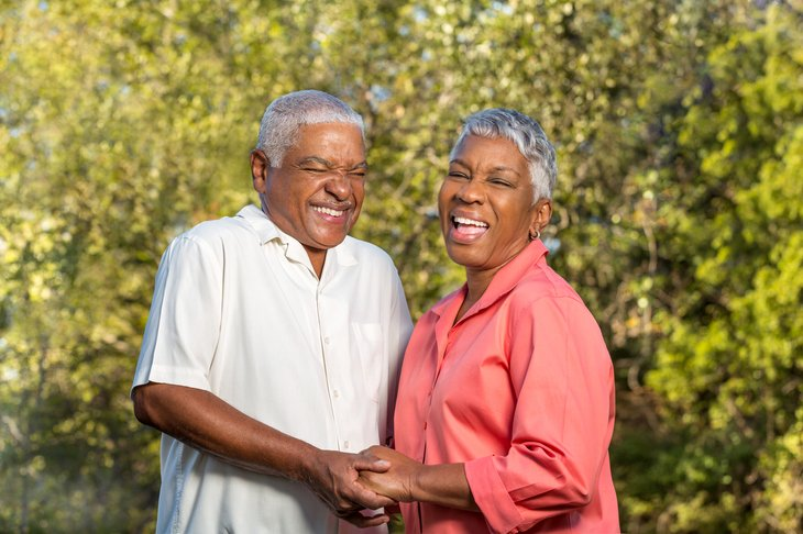 seniors elder assisted living Mature African American Couple
