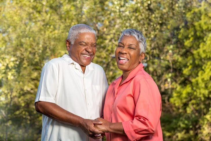 seniors elder assisted living Mature African American Couple