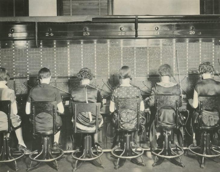 Telephone switchboard operators