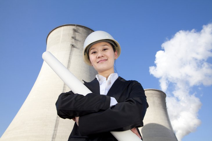 woman engineer cooling towers nuclear engineer