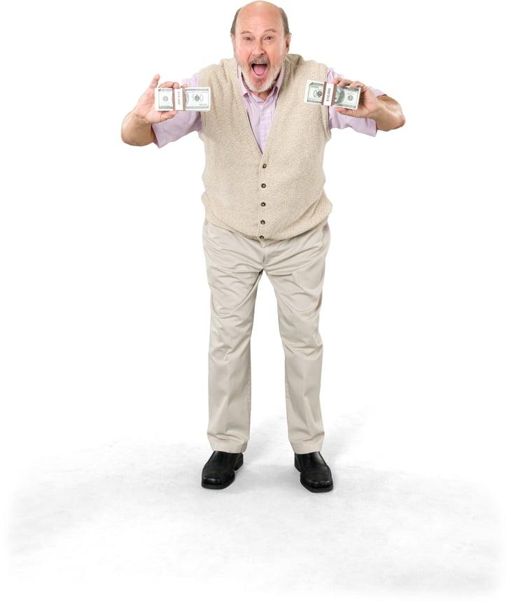 Senior Man w Money