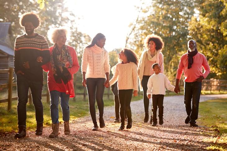 Multi Generation Family black african american