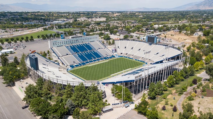 LaVell Edwards Stadium is an outdoor athletic stadium in Provo, Utah, on the campus of Brigham Young University (BYU) and is home field of the BYU Cougars