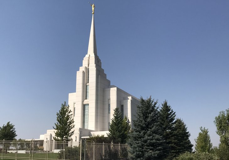 Mormon Temple in Rexburg Idaho
