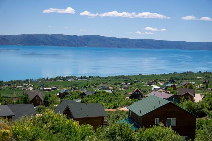 Homes on Bear Lake in Idaho
